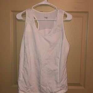 Fitted tank top with bra support